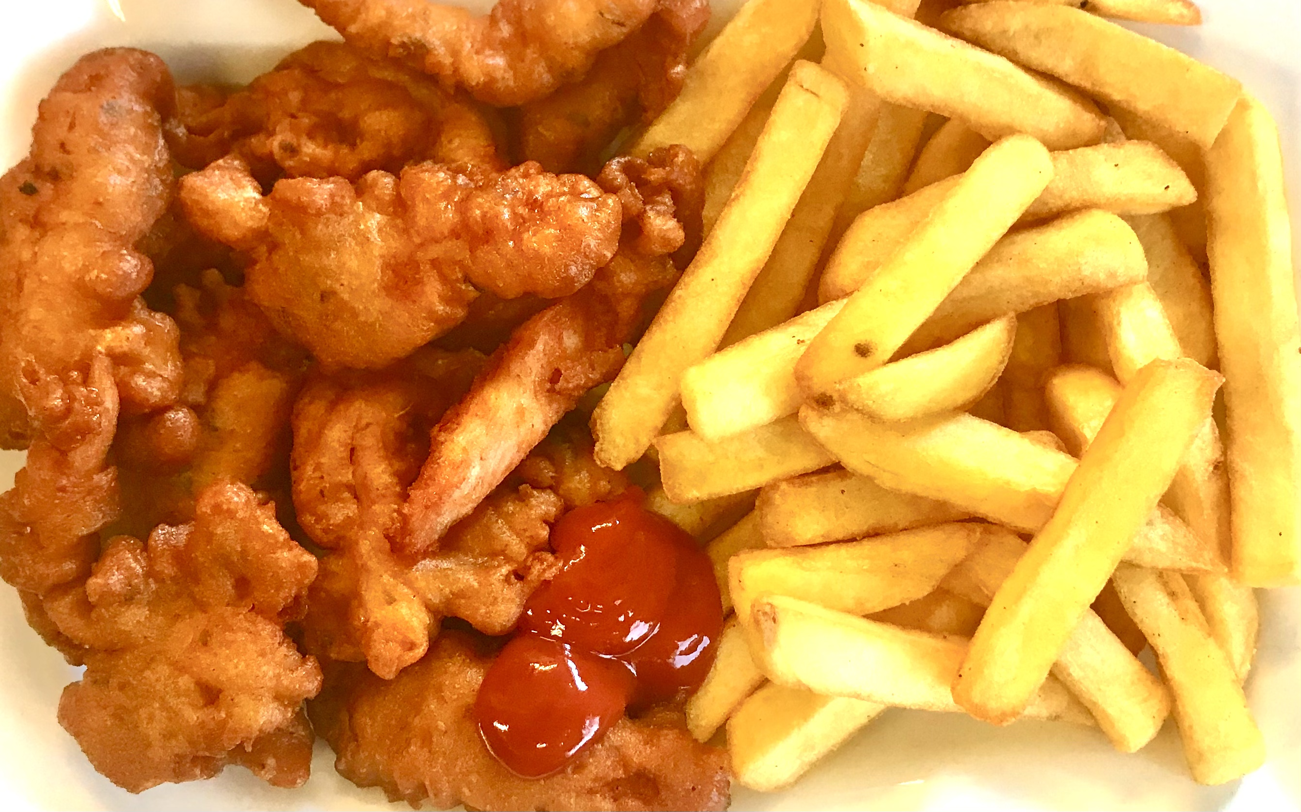 Plain Chicken And Chips